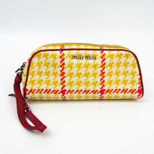 Miu Miu Women's Leather Pouch Red,Yellow