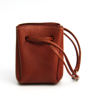 Hermes Vespa Women's Chevre Leather Pouch Brown