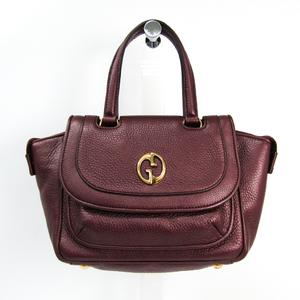 Gucci 282481 Women's Leather Handbag Bordeaux