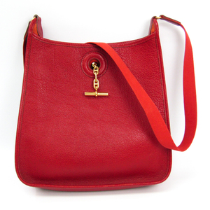 Hermes Vespa PM Women's Taurillon Clemence Leather Shoulder Bag Red
