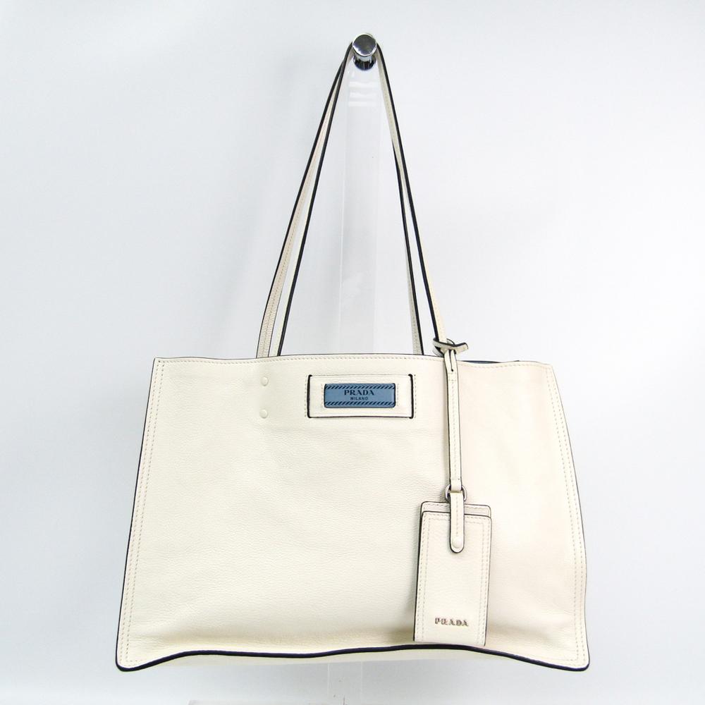 f5fd94a8c286 shop prada etiquette 1bg122 womens leather tote bag white 95e80 29bf5
