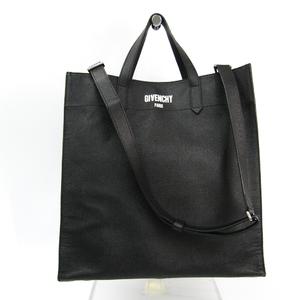 ジバンシィ(Givenchy) ユニセックス レザー トートバッグ ブラック