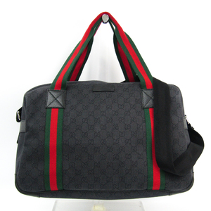 Gucci Web 374769 Unisex GG Canvas Boston bag Green,Red,Black