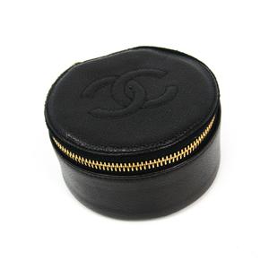 シャネル(Chanel) ジュエリーケース ブラック キャビアスキン