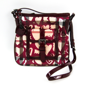 Burberry Women's PVC,Patent Leather Shoulder Bag Bordeaux