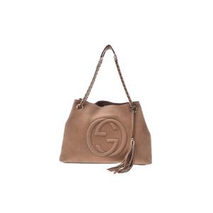 Gucci Soho Women's Leather Shoulder Bag Brown