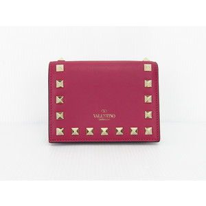 Valentino Leather Wallet (bi-fold) Bordeaux