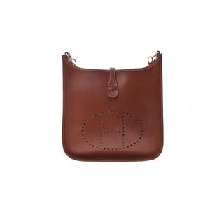 Hermes Evelyne Evelyne PM Women's Barenia Leather Shoulder Bag Brown