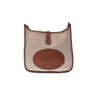 Hermes Evelyne Evelyne 2 PM Women's Canvas Handbag Natural