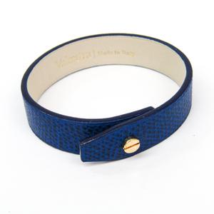 Valextra Leather Bracelet Royal Blue