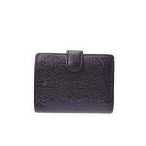 Chanel Wallet  Caviar Leather Wallet (bi-fold) Black