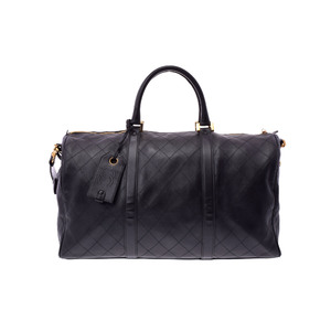 Chanel Boston Bag Leather Boston Bag Black