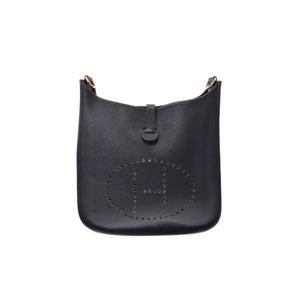 Hermes Evelyne Evelyne 2 GM Women's Togo Leather Shoulder Bag Black