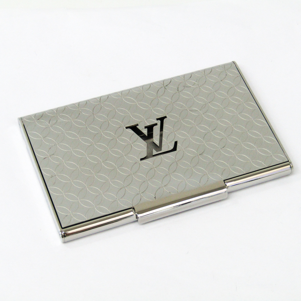 fded00b086aa Louis Vuitton Metal Business Card Case Silver Champs-Elysees Card Case  M65227