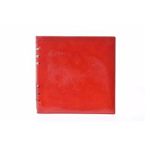ルイ・ヴィトン(Louis Vuitton) モノグラムヴェルニ パテントレザー ノートブック チェリーレッド Van de Lady