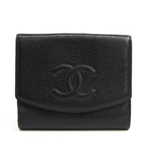 シャネル(Chanel) A01472 キャビアスキン 財布(二つ折り) ブラック