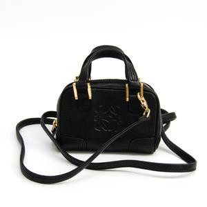 Loewe Micro Mini Amazona 160.82.038 Women's Leather Pochette Black