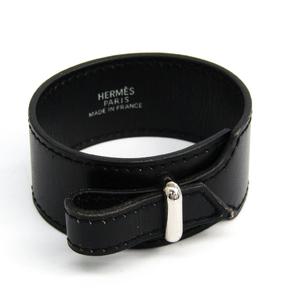 Hermes Box Calf Leather,Metal Bracelet Silver,Black Artemis