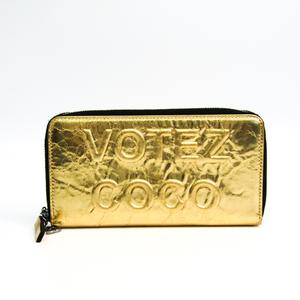 Chanel VOTEZ COCO A82190 Women's Leather Long Wallet (bi-fold) Gold