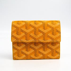 Goyard Marigny Leather,Canvas Coin Purse/coin Case Yellow