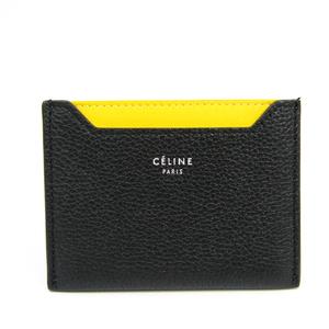 セリーヌ(Celine) レザー カードケース ブラック,イエロー 107813AFE.38NO