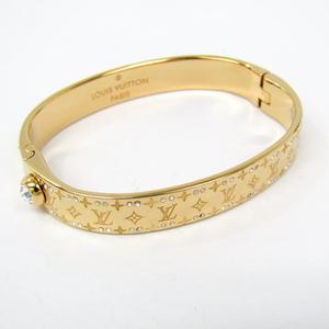 ルイ・ヴィトン(Louis Vuitton) メタル スワロフスキー ブレスレット ゴールド リジッド ナノグラム ストラス  M64860