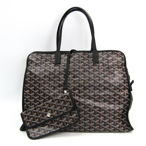 Goyard HARDY PM Canvas,Leather Tote Bag Black