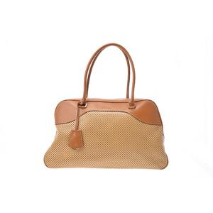 Prada Bowling Bag Leather Bag Brown
