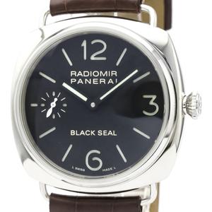 【PANERAI】パネライ ラジオミール ブラックシール ステンレススチール レザー 手巻き メンズ 時計 PAM00183