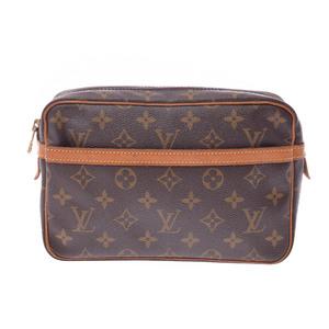 ルイ・ヴィトン(Louis Vuitton) モノグラム Compiegne 23 M51847 ユニセックス クラッチバッグ ブラウン