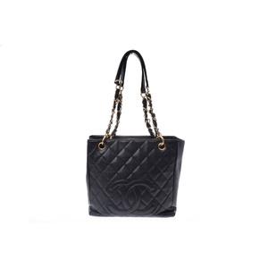 シャネル(Chanel) Chain shoulderBag レザー ショルダーバッグ ブラック