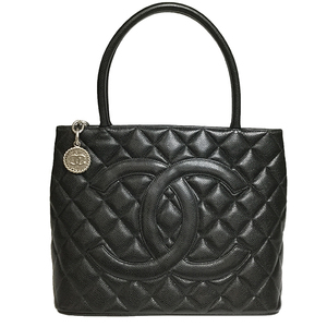 シャネル(Chanel) キャビア・スキン 復刻トート A01804 レディース レザー ハンドバッグ ブラック