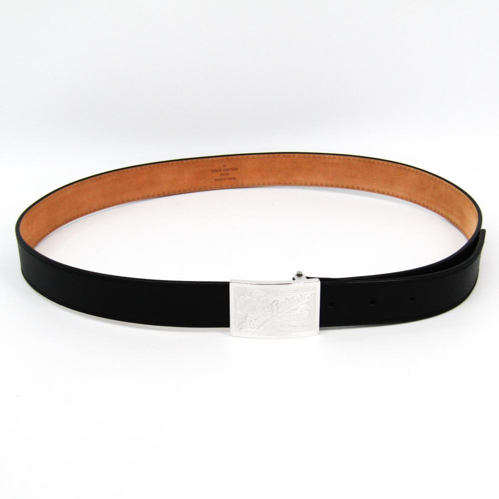 Louis Vuitton Leather Belt Black 95 Ceinture Jeans M6812 | elady com