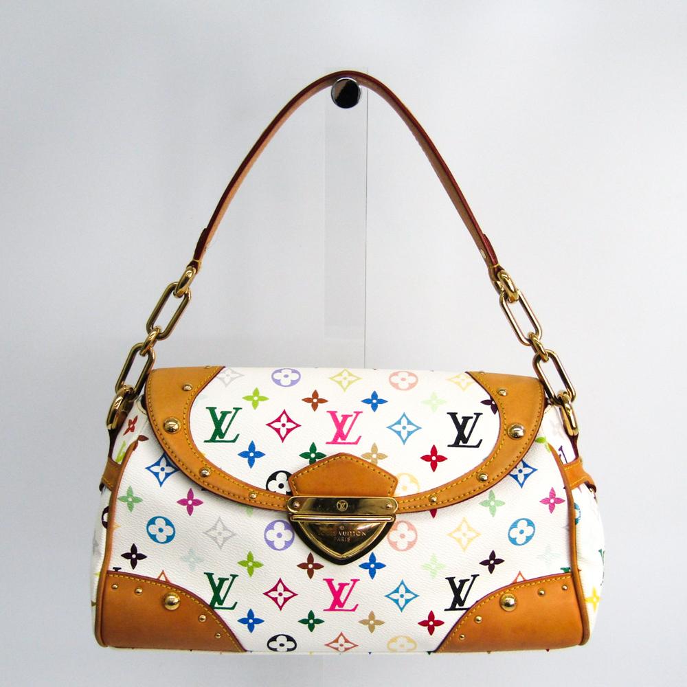 44198437d666 Louis Vuitton Monogram Multicolore Beverly MM M40203 Women s Shoulder Bag  Blanc