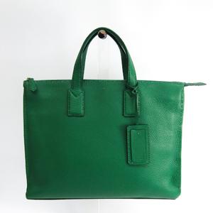 Fendi Selleria 7VA375 Leather Briefcase Green