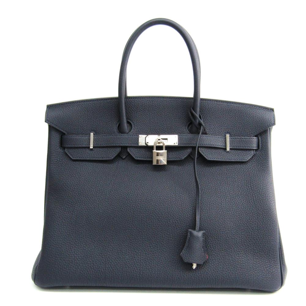 Hermes Birkin Verso 35 Women s Togo Leather Handbag Blue Nuit 4e0d0b5aba