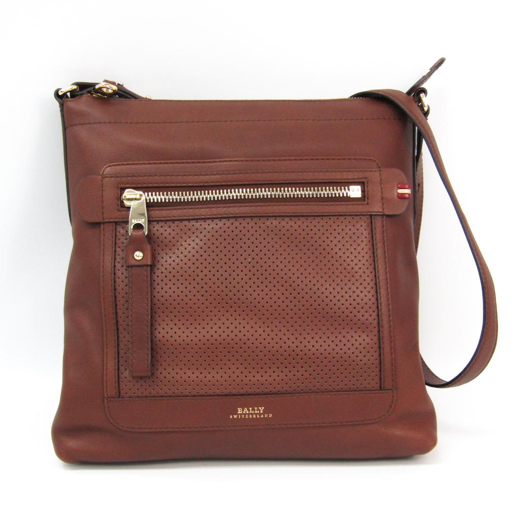 a8715c7194ddb Bally UMAS-SM Men's Leather Shoulder Bag Brown BF326999 | eBay