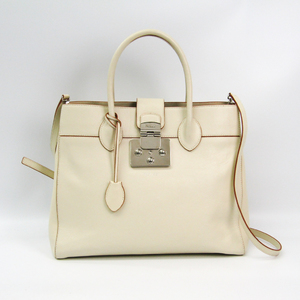 Furla Mantra L 921060 Women's Leather Handbag Ivory