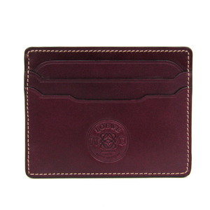 Loewe Leather Card Case Bordeaux 165.05.320