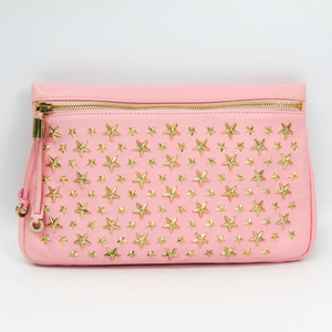 Jimmy Choo Zena Women's Leather Clutch Bag Pink