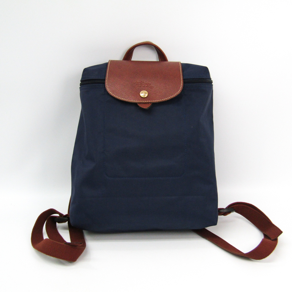 a4f19f2b95 Navy Blue Leather Backpack Womens
