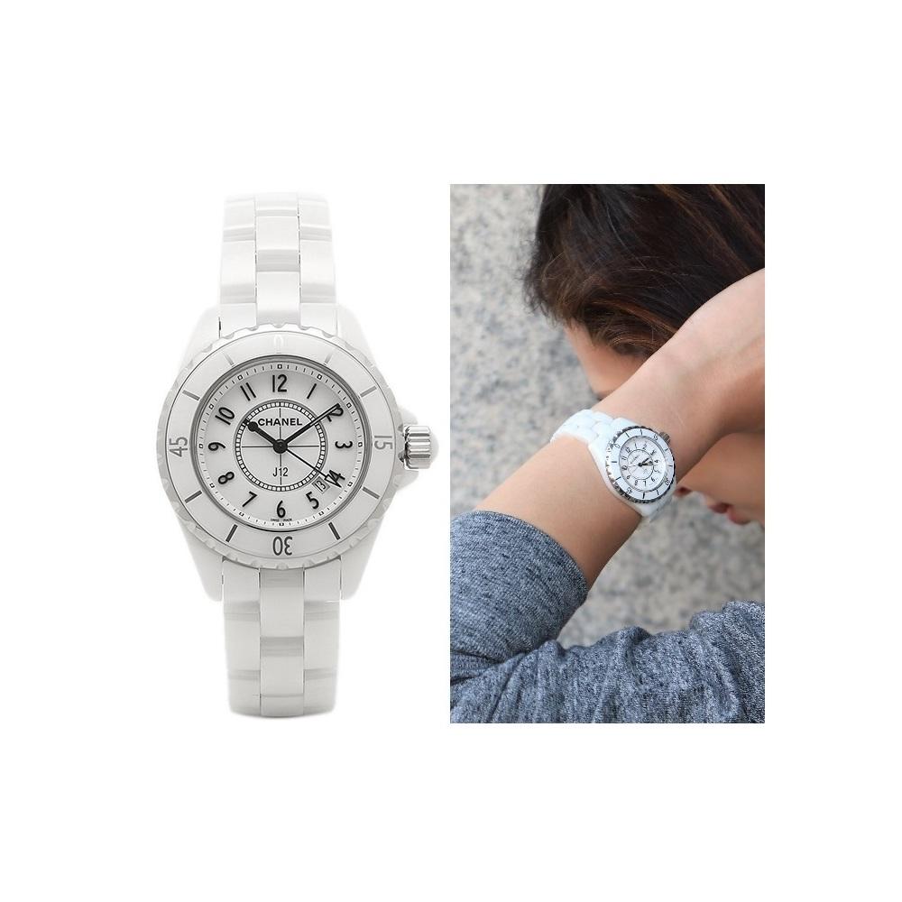 promo code 86e62 fe829 Chanel J12 Quartz Ceramic Women's Casual Watch H0968 | elady.com