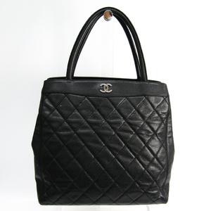 シャネル(Chanel) レディース キャビアスキン トートバッグ ブラック
