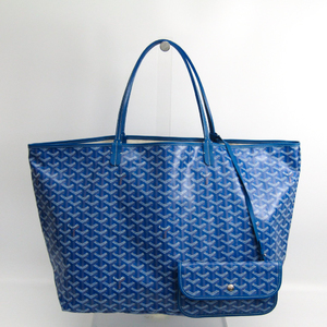 Goyard Saint Louis Unisex Leather,Canvas Tote Bag Blue