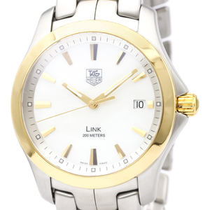 Tag Heuer Link Quartz Yellow Gold (18K),Stainless Steel Men's Sports Watch WJF1152