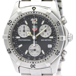 【TAG HEUER 】タグホイヤー 2000 クラシック プロフェッショナル クロノグラフ ステンレススチール クォーツ メンズ 時計 CK1110