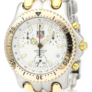 【TAG HEUER】タグホイヤー セル クロノグラフ ゴールドプレート ステンレススチール クォーツ メンズ 時計 CG1120