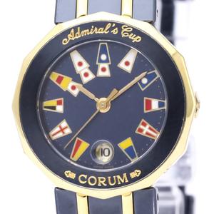 CORUM Admirals Cup 18K Gold Steel Ladies Watch 39.610.31