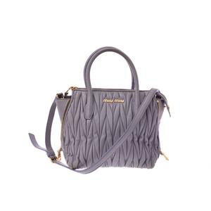 ミュウ・ミュウ(Miu Miu) マトラッセ 2way handbag レザー ハンドバッグ パープル