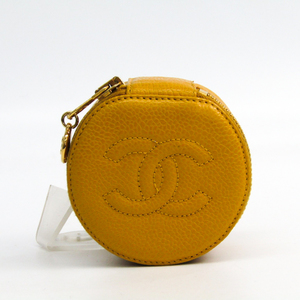 Chanel Jewelry Case Yellow Caviar leather